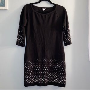 Venus Studded Black Body Con Dress